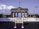 Brandenberg Gate Behind Wall steel fridge magnet   (na)